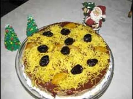 torta de mousse de ameixa preta e damasco   CyberCook