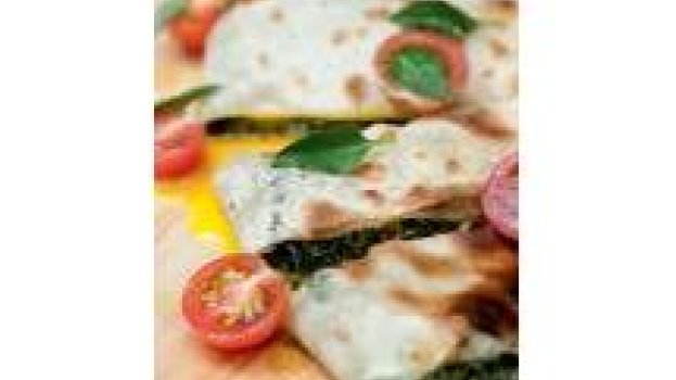 Focaccia de Espinafre, Ricota,Ovo e Pancetta
