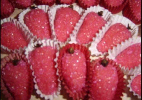 Moranguinho de beijinho de microondas