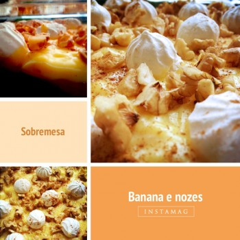 Mousse de Banana e Nozes