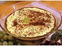 Torta creme de queijo com uva
