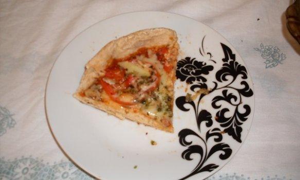 Pizza de Frigideira Integral