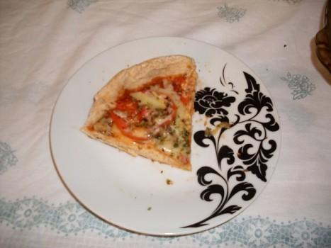 Pizza de Frigideira Integral | Caroline Alcantara