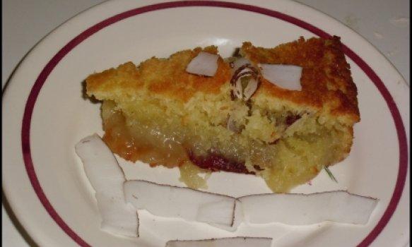 bolo de mandioca com coco fresco
