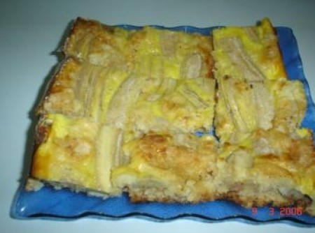 Cuca cremosa de banana