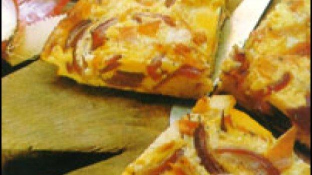 Fritada com Cebolas e Provolone