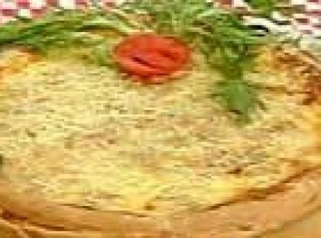 Torta suflê de bacalhau
