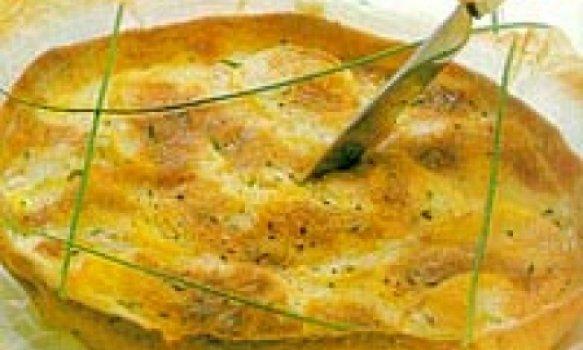 Torta de batata e queijo