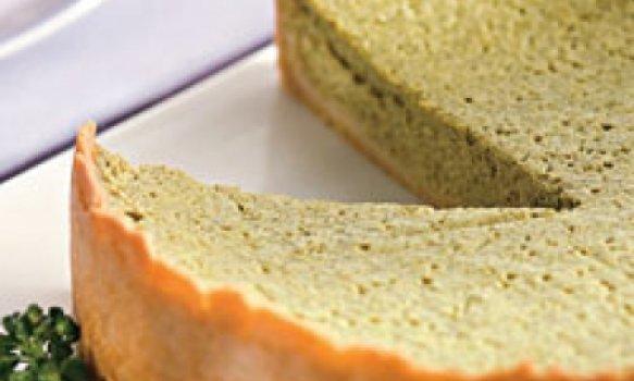 Quinua (incas) - torta de quinua com brócolis