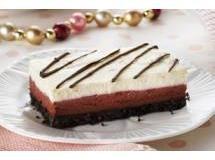 Barras Red Velvet com Cheesecake