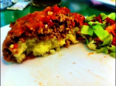 Polpetone de soja recheado com queijo | Lúcia Aquino