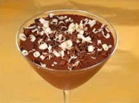 Cremoso light de chocolate ao licor