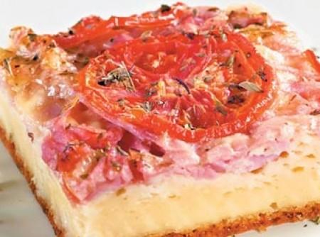 Torta de presunto e queijo