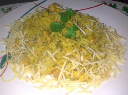 Risoto de frango ao curry | Margareth Brainer