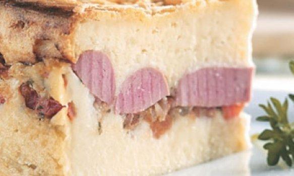 Torta de salsicha de frango