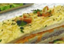 Torta de pao crocante