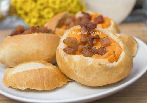 Canoa de Cheddar com Bacon