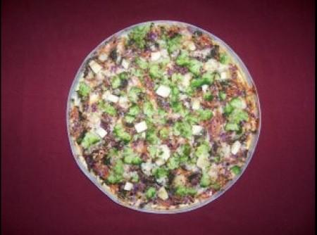 Pizza de Liquidificador com Legumes