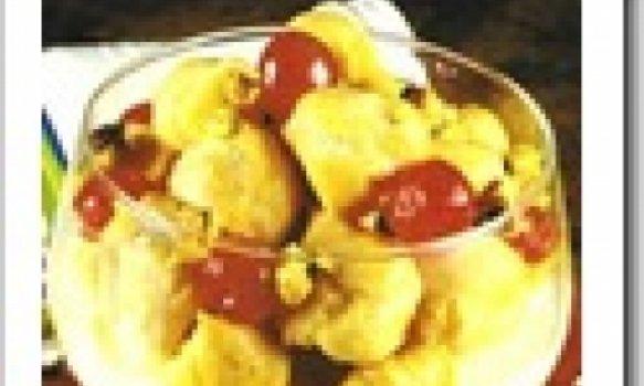 Profiteroles com Iogurte de Ananás