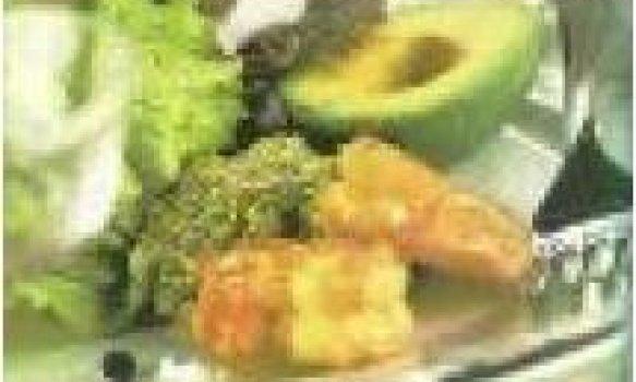 Salada de Camarão, Abacate e Alface