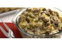 Carne de panela com batata e repolho