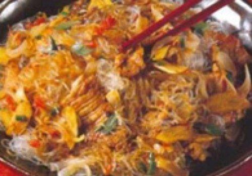 Espagueti Nissin Lombo ao molho mostarda