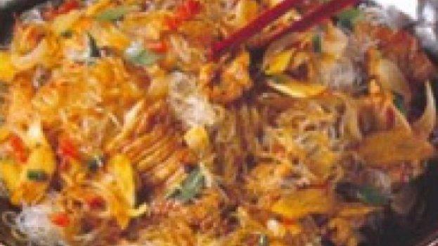 Espaguete com Lombo ao Molho Mostarda
