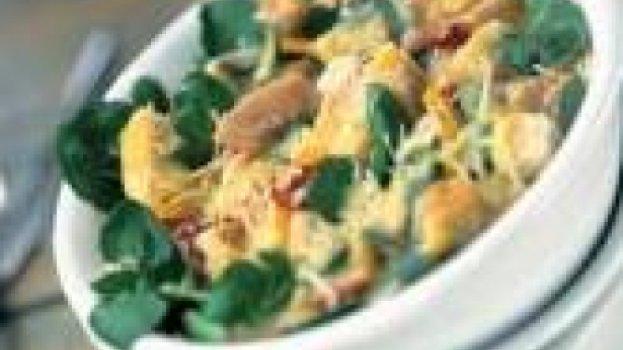 Salada de Agrião Caesar