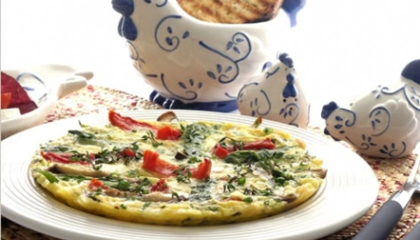 Ovos com Aspargos, Shiitake e Brie