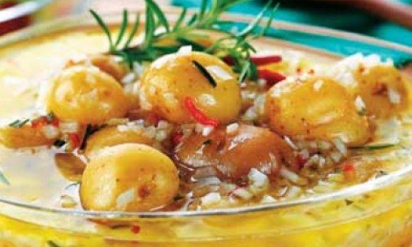 Conserva de batata com alecrim