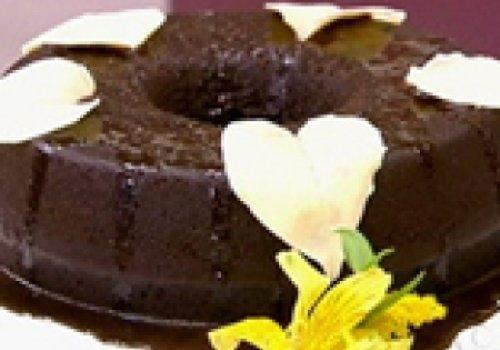 Pudim de Páo Com Chocolate