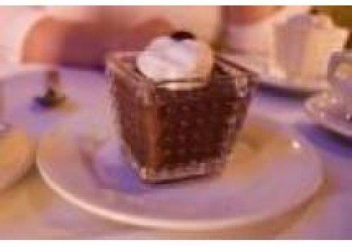 Creme de chocolate com sorvete de creme