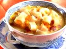 Sopa de Macarrão, Milho e Lingüiça Defumada | Luiz Lapetina