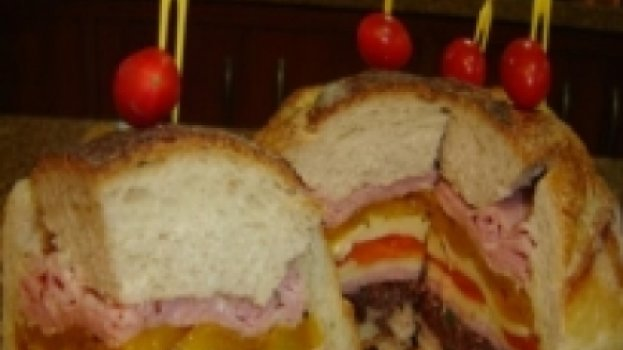 Sanduichão de pão italiano