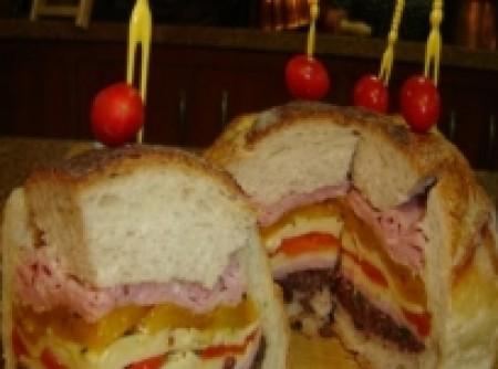 Sanduichão de pão italiano | YURI