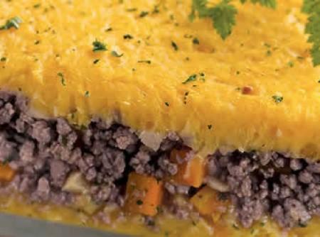 Assado de carne moída com mandioquinha by k&m