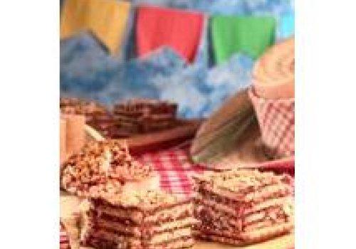 Pavê de amendoim e chocolate