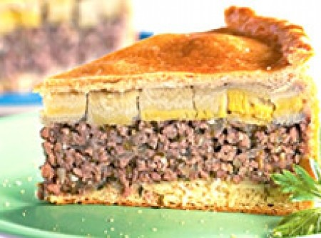 Torta de Carne moida com banana