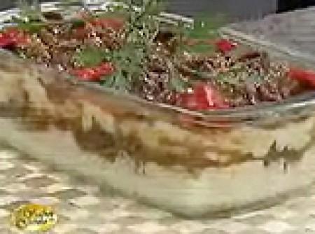 Mousse de Milho Verde e Carne Seca