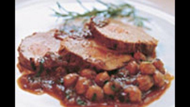 Carne de Panela com Grão-de-bico
