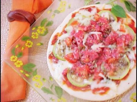 Pizza de Abobrinha Light