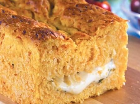 Pão de abóbora recheado de queijo   CyberCook