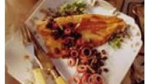 Truta Assada com Salsão, Tomate e Cebola