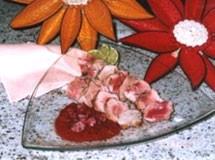 Mignon de Javali com Molho de Framboesa