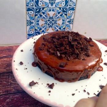 Cheesecake de Chocolate com Caramelo Butter Toffees