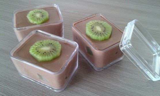 Mousse de Chocolate com Kiwi