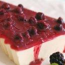 Torta com Calda de Frutas Vermelhas