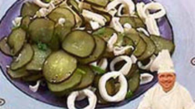 Salada de Lulas e Pepino Japonês