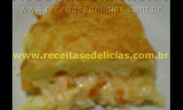 Torta de Batata com queijo e tomate