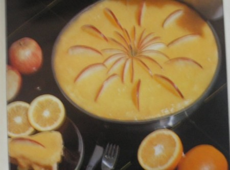 Torta de laranja e  maçã
